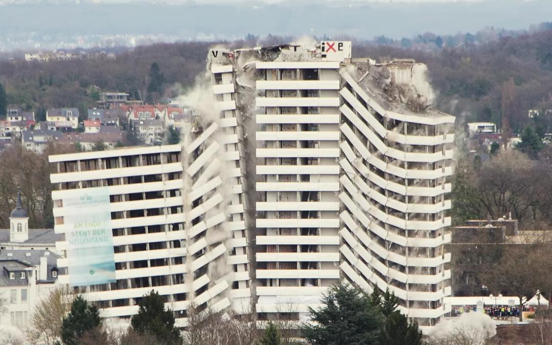 Sprengung des Bonn-Centers